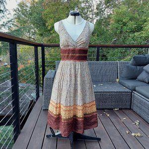 Citrine Fit and Flare Boho Vibe Dress